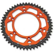 MOOSE RACING HARD-PARTS REAR SPROCKET / 51 TEETH / 520 PITCH / ORANGE/NATURAL / ALUMINIUM/STEEL 1210-897-51-14X
