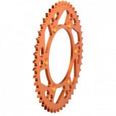 MOOSE RACING HARD-PARTS REAR SPROCKET 50 TEETH ALUMINIUM ORANGE 1211-897-50-14